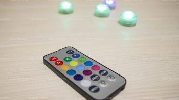 Декоративная погружная светодиодная подсветка на батарейках с пультом управления IP68
